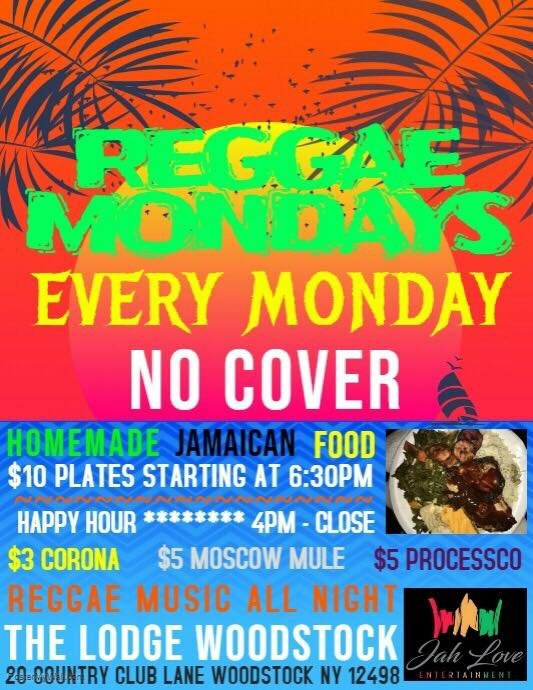 Reggae Mondays at The Lodge | Jah Love Entertainment